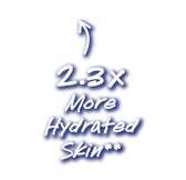 23x more hydrated skin